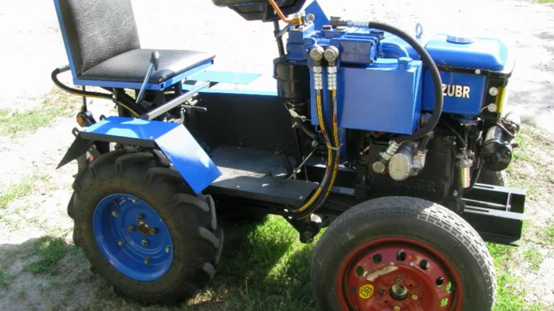 Как сделать мини-трактор из мотоблока своими руками?
