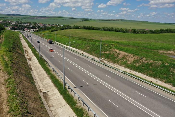 В Кабардино-Балкарии до четырех полос расширили 10 км трассы Р-217 «Кавказ»