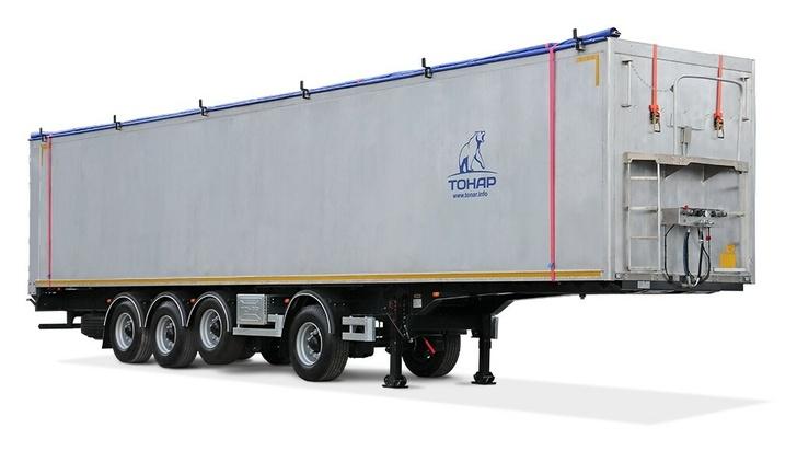Завод «ТОНАР» выпустил новую модель полуприцепа со сдвижным полом