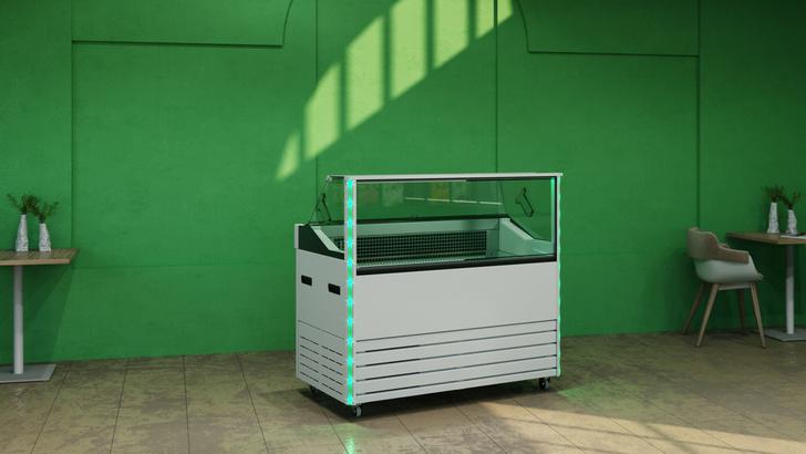 Завод «Полюс» запустил в производство первую российскую витрину для мороженного с режимом -25°С