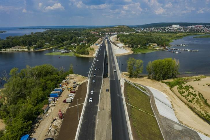 Рабочее четырехполосное движение запустили по мосту через Сок в Самарской области